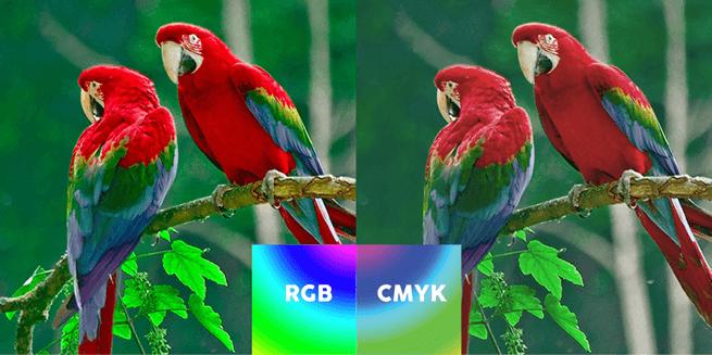 So sánh hệ màu RGB và CMYK