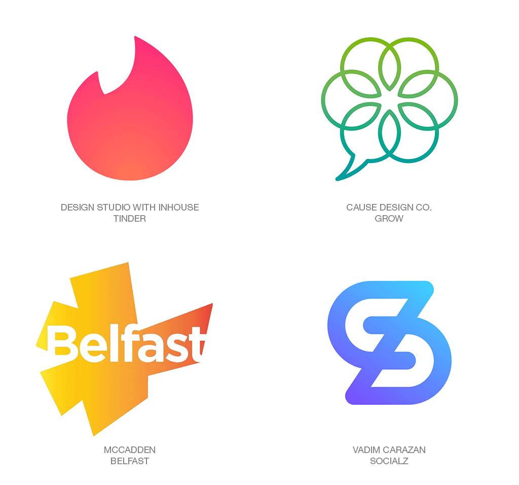 Xu hướng thiết kế logo 2018 - BLURPLE