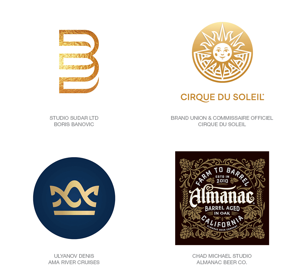 Xu hướng thiết kế logo 2018 - GOLD