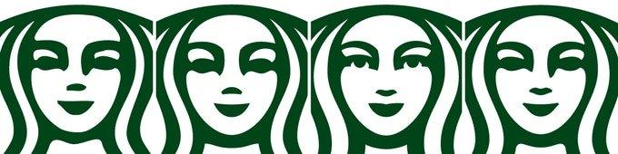 Thiết kế bí ẩn và bất đối xứng của logo Starbucks
