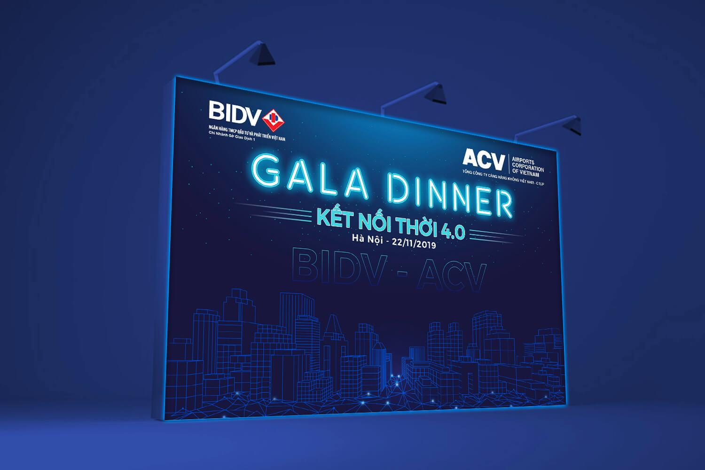 Thiết kế Backdrop BIDV - Gala Dinner