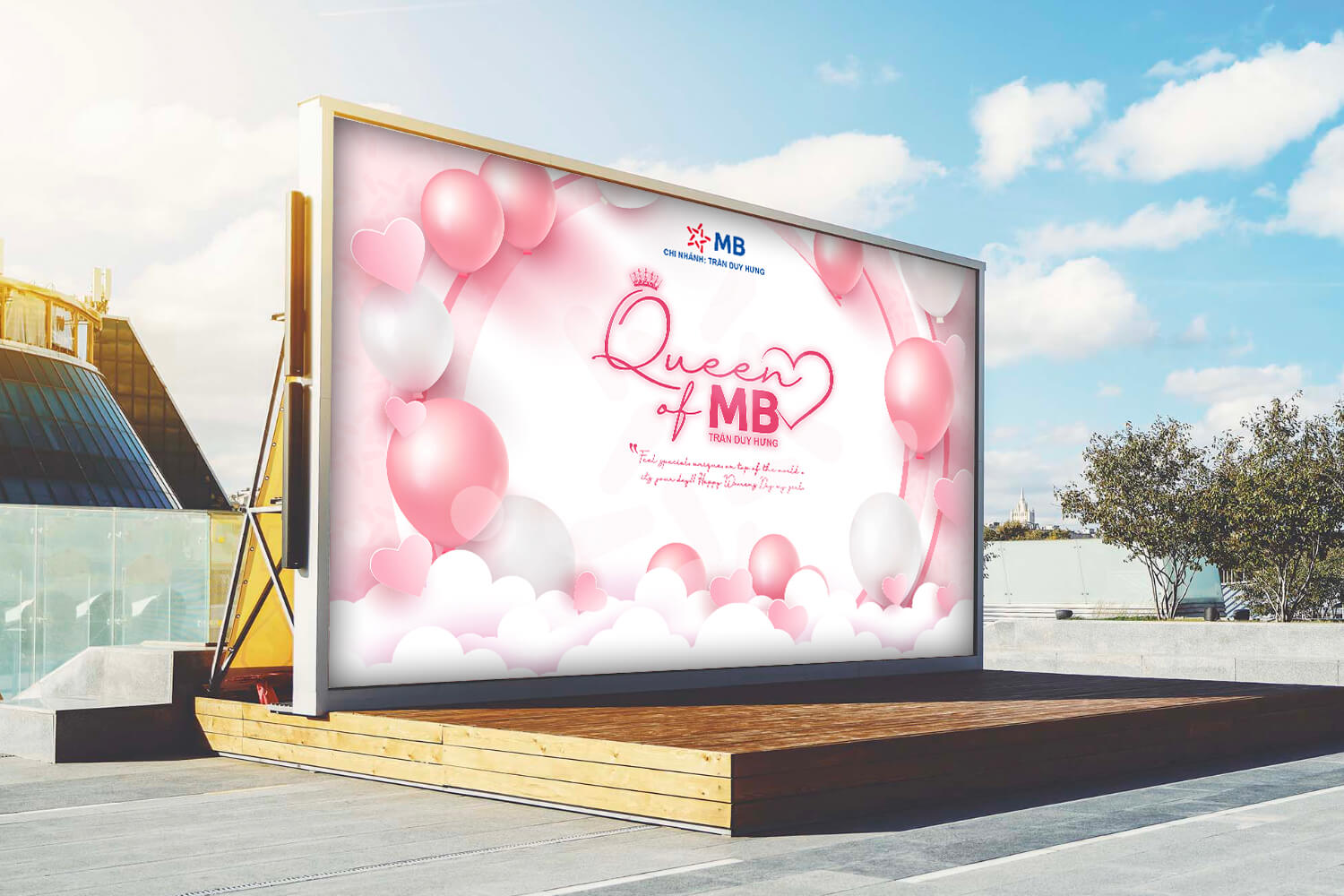 Thiết kế Backdrop MB - Queen Of MB 20/10