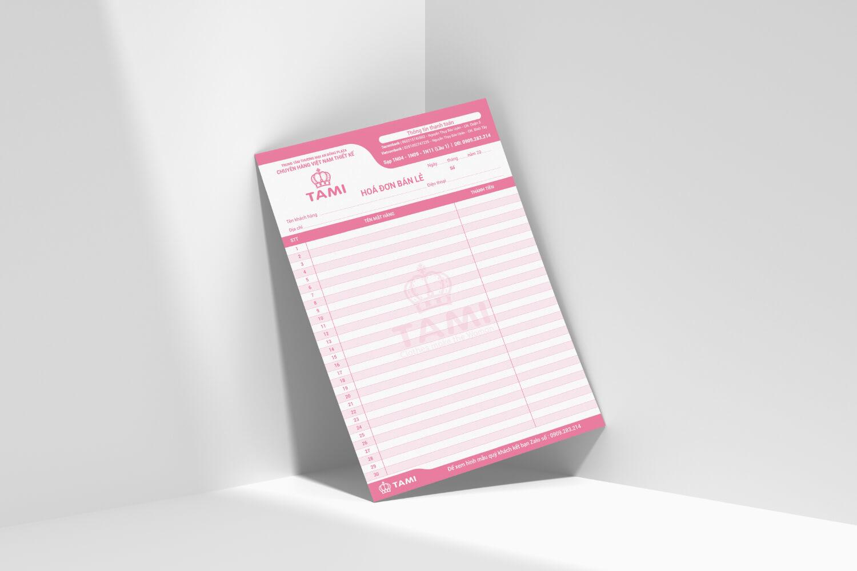 Thiết kế hoá đơn bán lẻ Tami