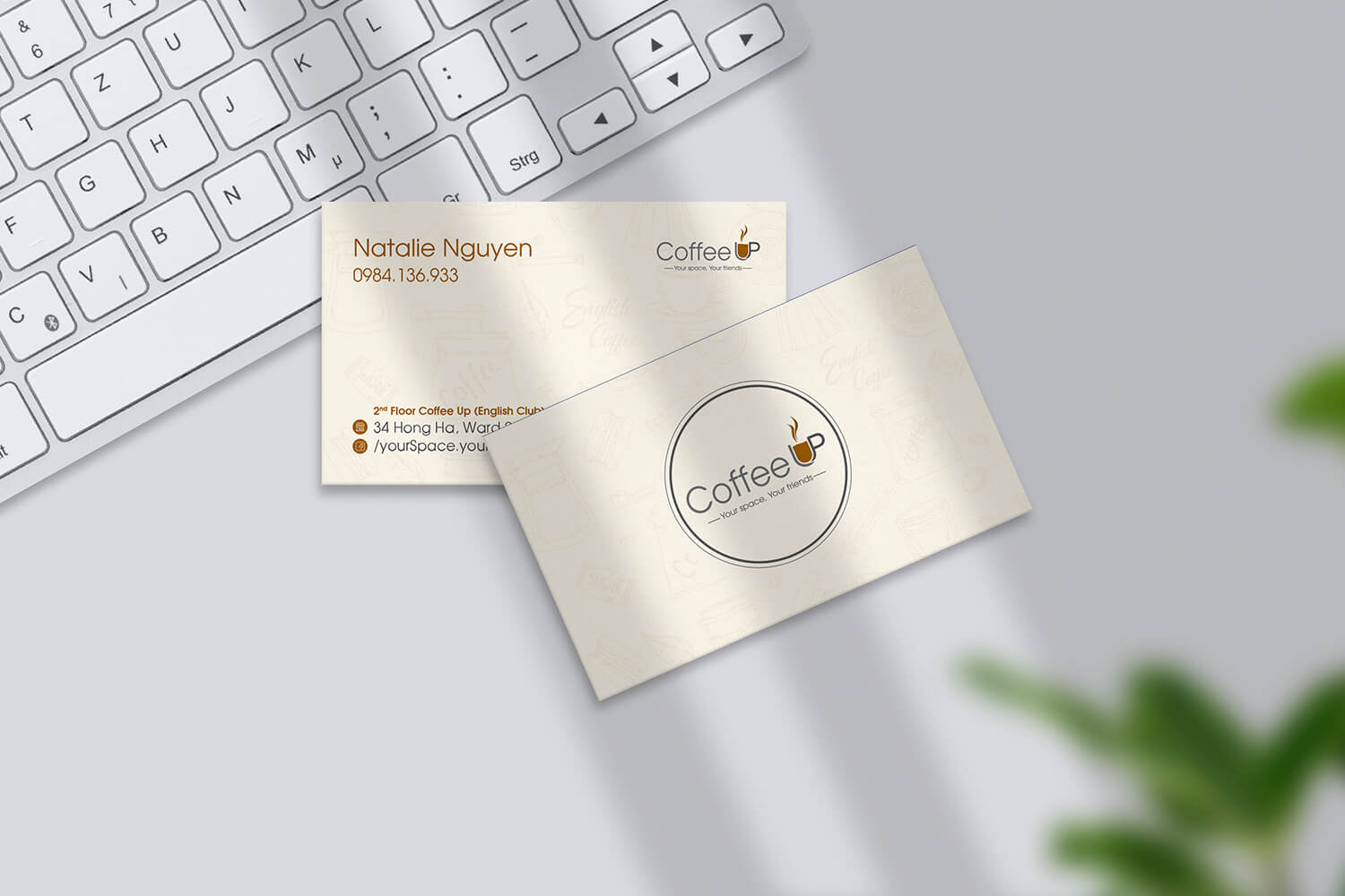 Thiết kế Name Card COFFEE UP