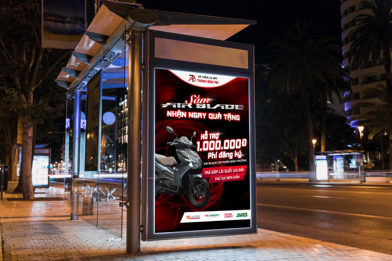 Thiết kế Poster TBA - Sắm Air Blade Nhận Ngay Quà Tặng