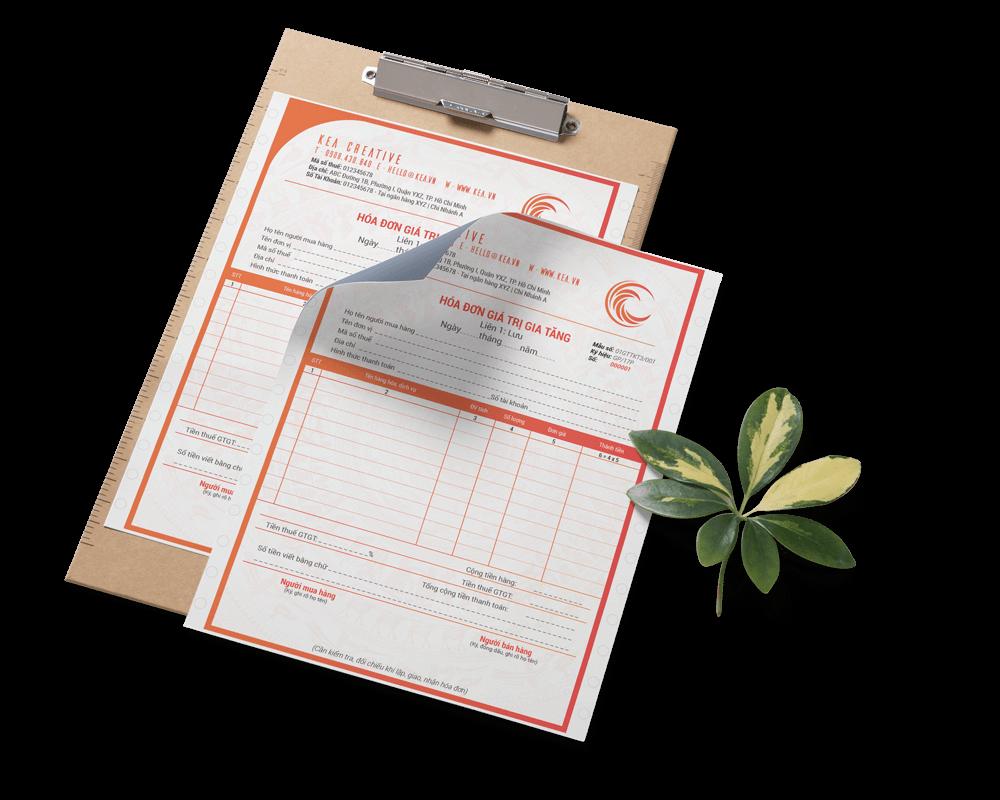 Thiết kế hóa đơn VAT, bán lẽ, phiếu thu, chi – Invoice