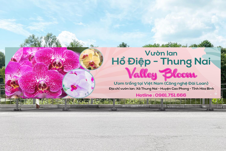 Thiết kế bộ Standee, Bandroll Vườn Lan Hồ Diệp - Thung Nai